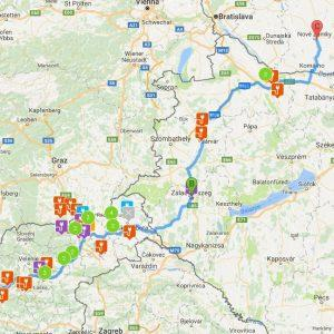 Od Ljubljane preko Madžarske do Slovaške z električnim vozilom.