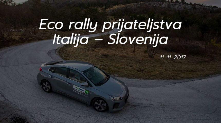 Eco rally prijateljstva Italija Slovenija