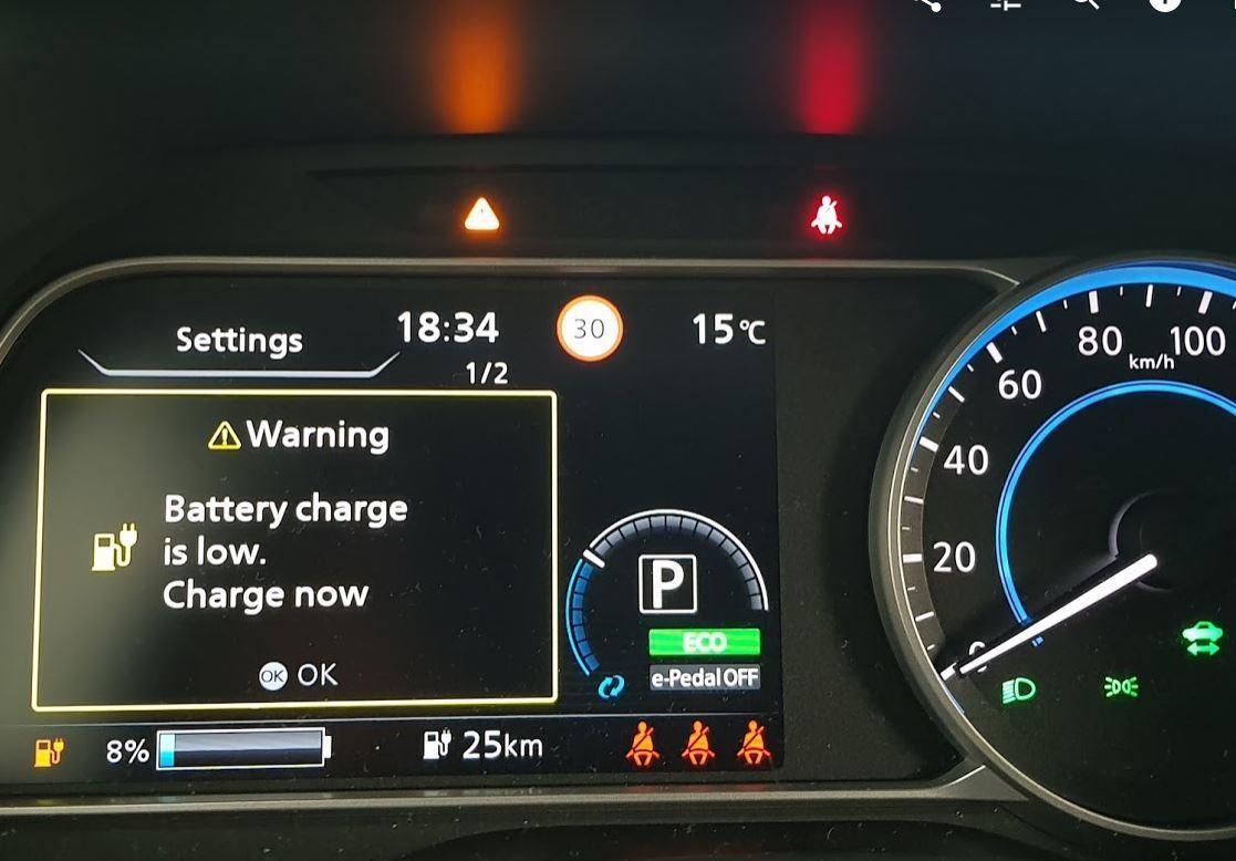 Opozorilo o stanju baterije