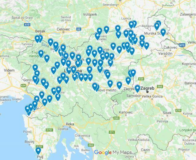 Lokacijski prikaz članstva