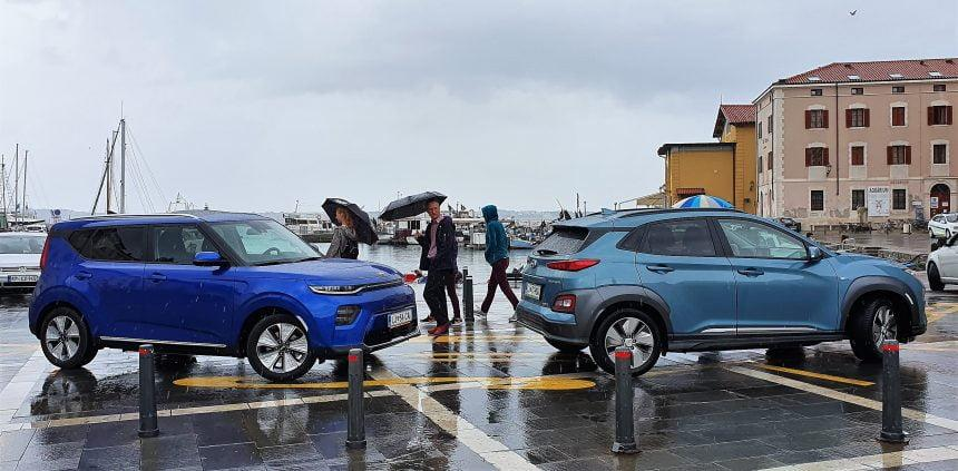 HYUNDAI Kona electric versus KIA eSoul electric