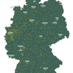 Nemčija, cena DC do 0,44€ za kWh